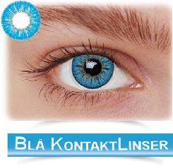 stort udvalg af blå kontaktlinser