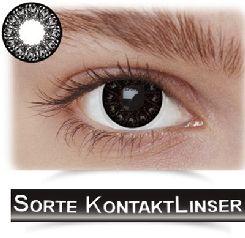 Sorte kontaktlinser